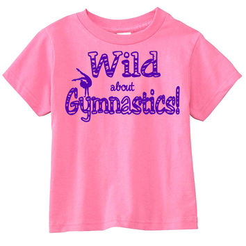 Wild About Gymnastics Hot Pink T-Shirt