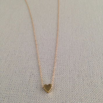 Vermeil Heart necklace, personalized jewelry, custom jewelry, bridesmaids necklaces, bridal jewelry, heart necklace, sister gift, aunt gift