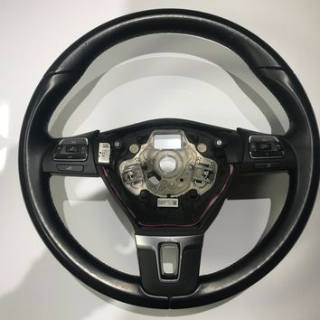 10-14 Volkswagen Jetta GTI Leather Wrapped Steering Wheel 3C8 959 537 D