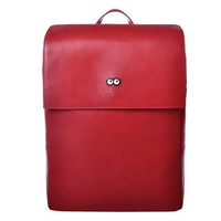 Eyes Pixel Leather Backpack