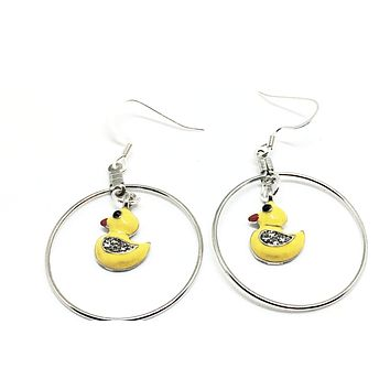 Yellow Duck Earrings