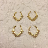 Caterina Fake Septum Ring in Gold