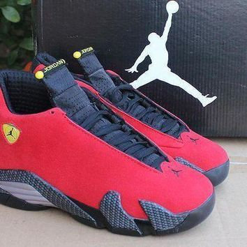 Air Jordan 14 Retro AJ14 Ferrari Red Sneaker Shoe US 5.5-13