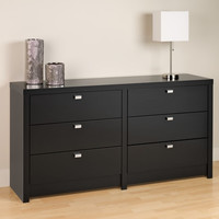 Black Series 9 Designer - 6 Drawer Dresser