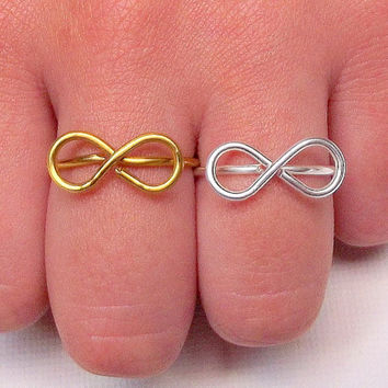 Infinity Ring - Friendship Infinity Ring -  Adjustable - Gift for friend - Friendship gift idea - BFF Ring - Friendship Ring -  by Tiny Box