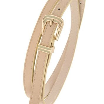 Skinny Classic Taupe Belt