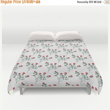 SALE FLAT 20% OFF Duvet Cover, Floral bedding, Floral duvet Cover, Rose bedding, Shabby Chic Decorative Bedding Home Interior Decoration