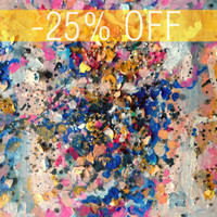 DISCOUNTED - An Original Acrylic Impressionistic Abstract Colourful Pink Contemporary Decorations III Painting by Kelli Gedvil!