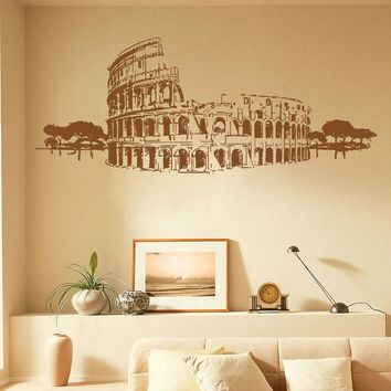 ik1041 Wall Decal Sticker colosseum rome italy gladiator bedroom