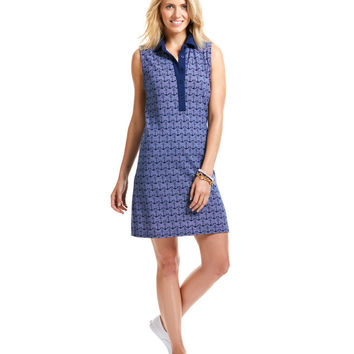 Anchor Dots Knit Shirt Dress