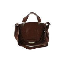 Kooba Womens Leonard Leather Flap Satchel Handbag