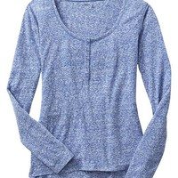Gap Women Factory Slub Hi Lo Henley