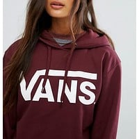 """VANS"" Print Hooded Pullover Tops Sweater Sweatshirts"