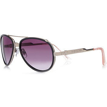 River Island Womens Grey aviator sunglasses
