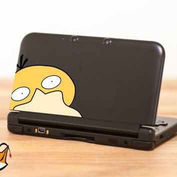 Psyduck Pokemon decal sticker for Nintendo 3DS XL, 3DS, MacBook and all other devices! ma177