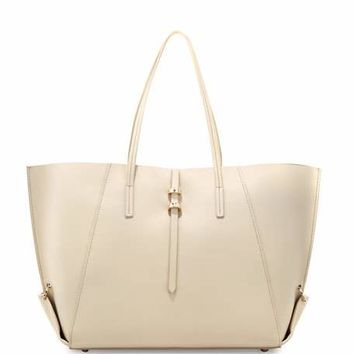 ZAC Zac Posen Eartha Folded-Gusset Shopper Bag, Cream