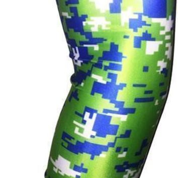 White | Blue | Lime Green Arm Sleeves