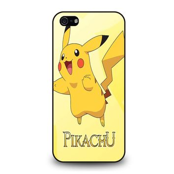 FUNNY CUTE PIKACHU POKEMON iPhone 5 / 5S / SE Case