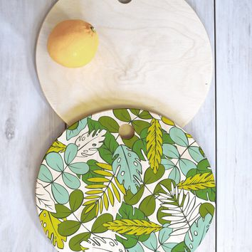 Heather Dutton Modern Tropics Cutting Board Round