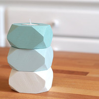 Geometric Wood Candle holders Easter Decoration