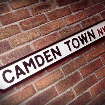 Camden Town Old Fashioned London Street Sign