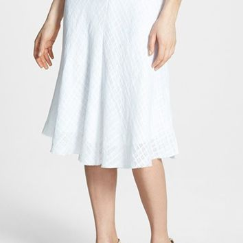 Women's Eileen Fisher Open Weave Linen Flared Skirt
