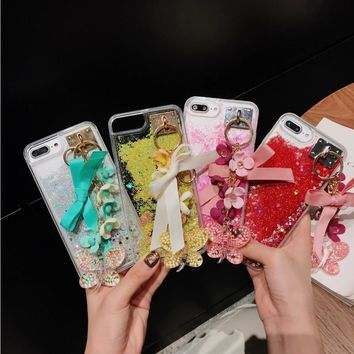 For IPhone 6 6s 7 8 Plus X New Cute Camellia Plant Flower Bowknot Pendant Butterfly Ornament Case Cover Dallas Cowboys Jersey