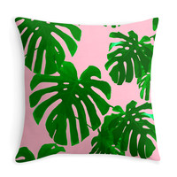 Plants on Pink - Decor Pillow