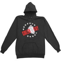 Green Day Circle Of Stars Hooded Sweatshirt - Green Day - G - Artists/Groups - Rockabilia