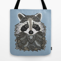 Tangled Raccoon Tote Bag by ArtLovePassion
