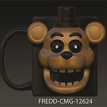 20oz OFFICIAL Five Nights at Freddy's FNaF PREMIUM Freddy Face Molded Ceramic Coffee Mug Novelty GIFT