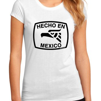 Hecho en Mexico Eagle Symbol with Text Juniors Sublimate Tee by TooLoud