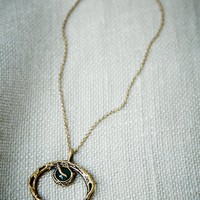 Free People Agate Crescent Necklace