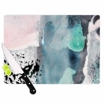 """Iris Lehnhardt """"Abstract Color"""" Pastel Painting Cutting Board"""