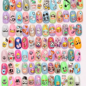 nail stickers decals nail art water decals