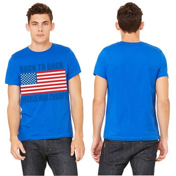 Back To Back World War Champs American Flag Design T-shirt