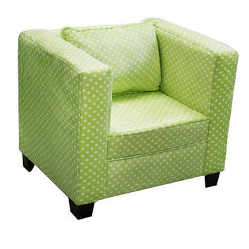 Komfy Kings, Inc 44036 Newco Kids 16-Inch Green Dots Modern Chair
