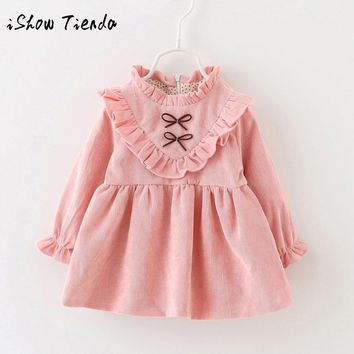 ISHOWTIENDA Toddler Baby clothes Autumn Long Sleeve party Princess Dress for Girls Outfit child dress newborn costumes for Kids