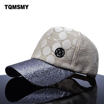 TQMSMY brand Sun Hats For Women Baseball Cap Men Snapback Caps Sequins Bone women's hip hop cap Golfs bone casual hat Gorras