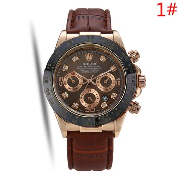 Rolex New fashion leather watchband couple watch wristwatch