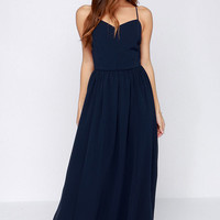 Director's Cut Navy Blue Maxi Dress