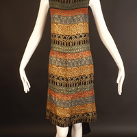 1920s Gold Bullion Evening Dress, Bust-34