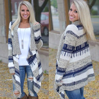 Knitted Cardigan Loose Sweater Outwear Jacket Coat Sweater