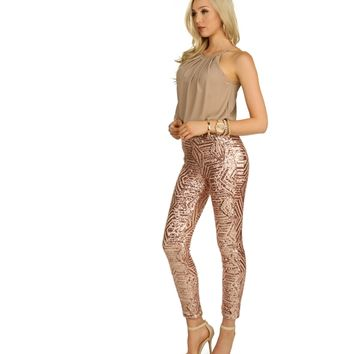 Gold Ready for the Party Pants