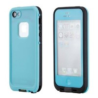 GEARONIC Waterproof Shockproof Full Body Skin Case Cover Pouch for iPhone 5, Multi Purpose Protective Skin for water, shock, snow, dirt - Sky Blue