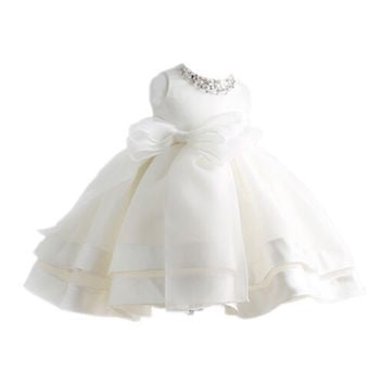 Sweet Kids Baby-Girls Manual Crystal and Tulle Flower Girl Pageant Dress,Baptism Christening Gowns,Vestidos Femininos P-609