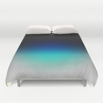 Blue Gray Black Ombre Duvet Cover by 2sweet4words Designs