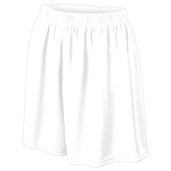 Augusta 476 Wicking Mesh Soccer Short-Youth - White