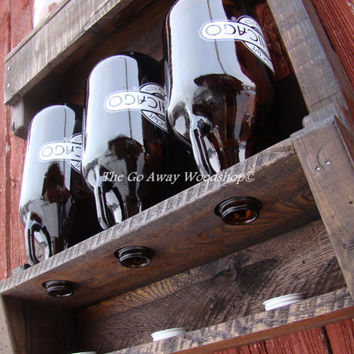 Growler drying rack, recycled pallet