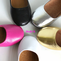 New Girls Kids Toddler Ballet Flats Shoes Black, Pink,Silver,Gold,White Size